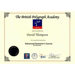 Advanced Examiners Course Certificate