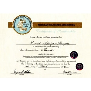 American Polygraph Association Certificate